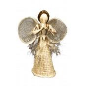 Anioł Stożkowy Z Juty 12,5Cm (100/2)