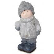 Figurka Dziecka W Czapeczce Z Włóczki