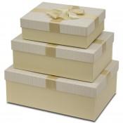 Pl Pudełka Papierowe S/3 91329-Cream/12