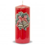 Pl Czerwień Świeca Świąteczne Dzwonki Walec Duży