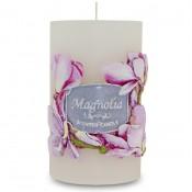 Pl Biel Magnolia Orchidea Świeca Garden Walec Mały