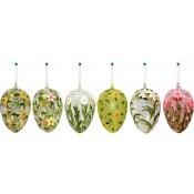 Jajka Szklane Malowane 16X10X10Cm (24)